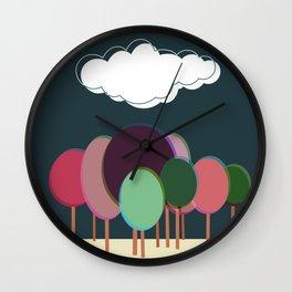 Free forest dark Wall Clock