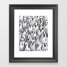 sad ghosts Framed Art Print