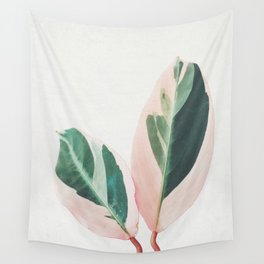 Pink Leaves I Wall Tapestry
