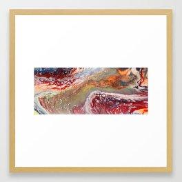 Fiery closeup Framed Art Print