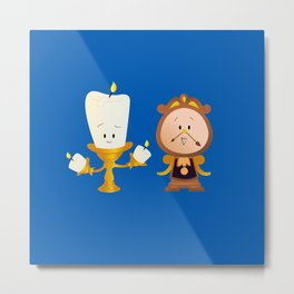 Baby Lumiere & Baby Cogsworth Metal Print