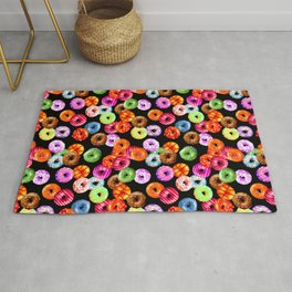Multicolored Yummy Donuts Rug