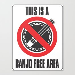 Banjo Free Zone Canvas Print