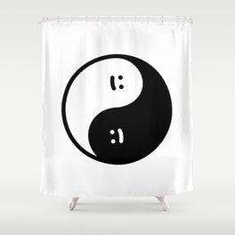 Yin Yang - Ignorant Doodles Shower Curtain