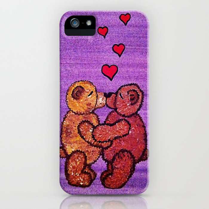Bears in love iPhone Case
