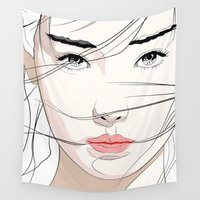 mask Wall Tapestries featuring Under The Mask by SEVENTRAPS