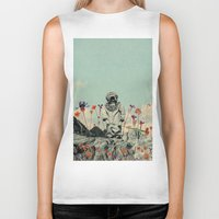 diver Biker Tanks featuring Lonely Diver by Fajar P. Domingo