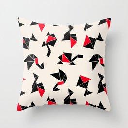 Tangram Animals Throw Pillow