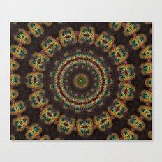 Peacock Velvet Canvas Print