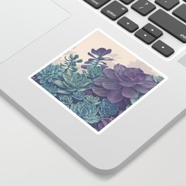 Magical Succulent Garden Sticker