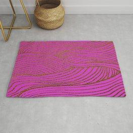 Wind Hot Pink Gold Rug
