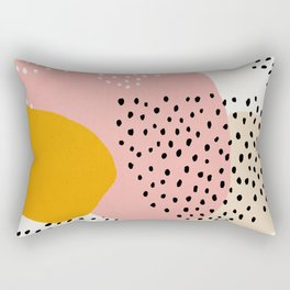 Abstract, Mid century modern kids wall art, Nursery room Rectangular Pillow
