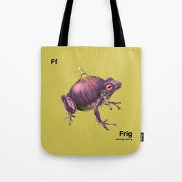 Ff - Frig // Half Frog, Half Fig Tote Bag
