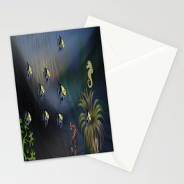 Tropical Underwater Wave  Stationery Cards