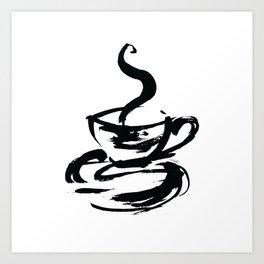 Brushstroke Coffee Cup by Kathy Morton Stanion Art Print