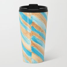 Beach Chevron Metal Travel Mug