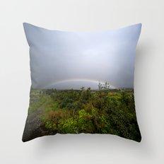 under the rainbow Throw Pillow