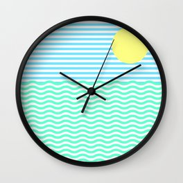 Coastline (Sunrise Blue) Wall Clock