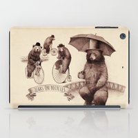 bicycles iPad Cases featuring Bears on Bicycles by Eric Fan