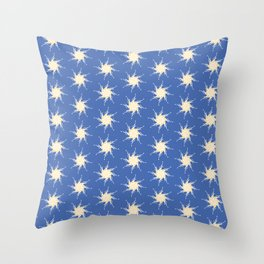 Letter J Stars Pattern Throw Pillow