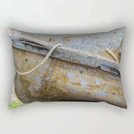Micheal rode his boat ashore Rectangular Pillow