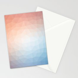A playful game of reds and blues Stationery Cards