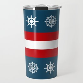Compass and sailing wheel Travel Mug