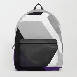 Purple Black and Gray - Geometric Composition  Backpack
