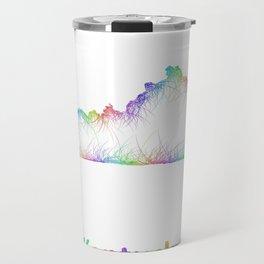 Rainbow Kentucky map Travel Mug