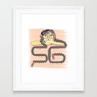 rapunzel Framed Art Prints featuring Rapunzel by famenxt