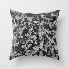 Black Ink on White Background #2 Throw Pillow