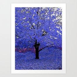 Trees Blue Purple Art Print