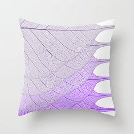Leaves Purple Throw Pillow