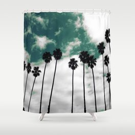 Palms in the sky Shower Curtain