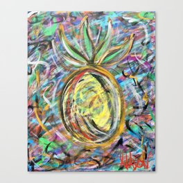 Miami Pineapple Canvas Print