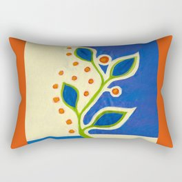 blue vine ... Rectangular Pillow