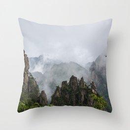 Settling Fog Throw Pillow