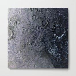 Moon Surface Metal Print