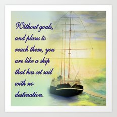 Without goals and plans Art Print