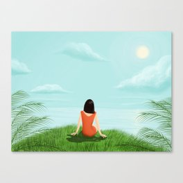 Calm by the sea Canvas Print