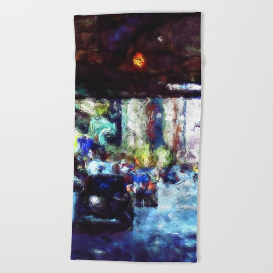 Traffic In The City Beach Towel