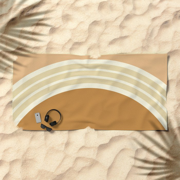 one day –earthen clay layers 2 Beach Towel