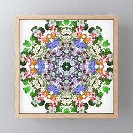 Spring wildflower mandala 2 Framed Mini Art Print