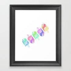 Ice Cream Melt Framed Art Print