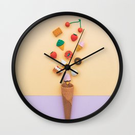 dessert sweets Wall Clock