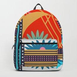 Multi Geometric Love Backpack