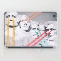 rushmore iPad Cases featuring Embroidered Mt. Rushmore by Mana Morimoto
