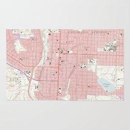 Vintage Map of Colorado Springs CO (1961) 2 Rug