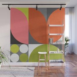 Mid Modern Geometric Bloom Wall Mural