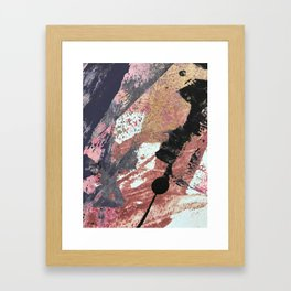 01015: colorful pink purple and gold abstract Framed Art Print